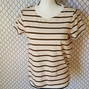 Madewell Striped Short Sleeve T-Shirt SZ M